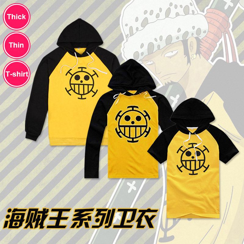Anime Cosplay One Piece Cosplay Costume Trafalgar Law Hoodies T-shirt Masquerade Clothes Top Coat for Man Women Free Shipping