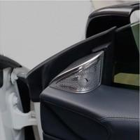 For Mercedes Benz CLA C117 Car Styling Car door Loudspeaker Sticker Audio Stereo decorative Cover Car Interior Trim Accessories