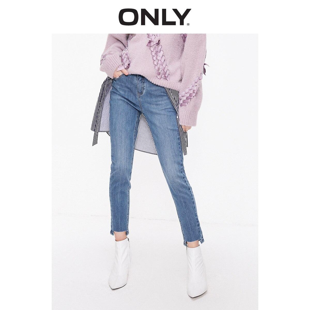 Apenas 2019 primavera verão nova feminina baixo-rise magro jeans | 119149527