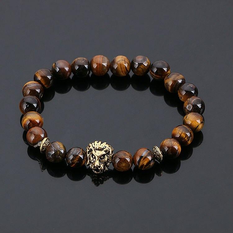 KANGKANG Jewelry Gold Buddha Leo Black For Men Women