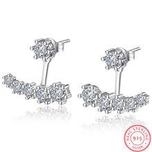 Роскошные женские серьги гвоздики из серебра