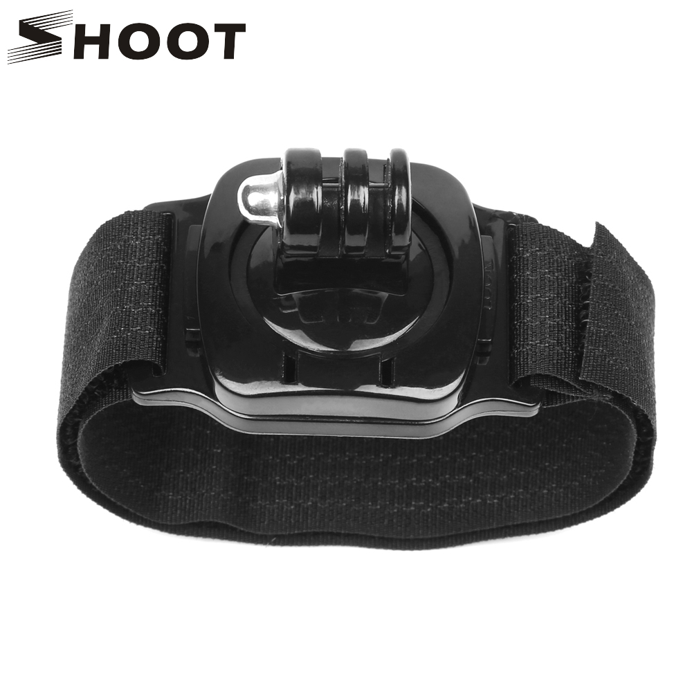 SHOOT 360 Degree Rotation Hand Wrist Strap Mount For Gopro Hero 8 7 5 6 4 Session Xiaomi Yi 4K Sjcam Eken H9 Go Pro 8 Accessory