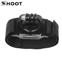 SHOOT 360 Degree Rotation Hand Wrist Strap Mount for Gopro Hero 9 8 7 5 Black Xiaomi Yi 4K Sjcam M20 Eken H9 Go Pro 9 Accessory