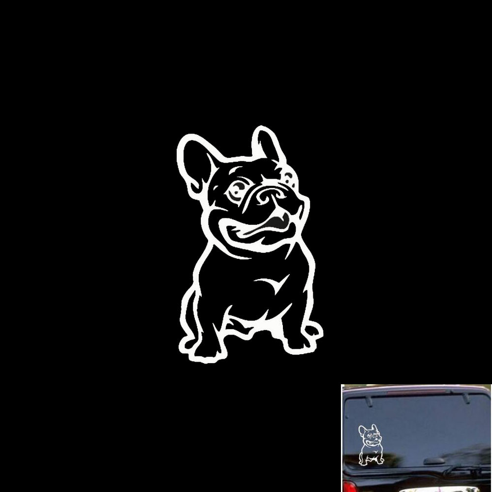 Funny Bulldog Car Sticker For Mini Cooper Clubman Chocolate For VW Golf 4 5 6 For Peugeot 206 307 308 407