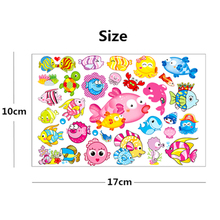 NU-TATY 10PCS/lot Cartoon Fish Child Temporary Body Art Flash Tattoo Sticker 10*17cm Waterproof Henna Tatoo Styling Tattoo