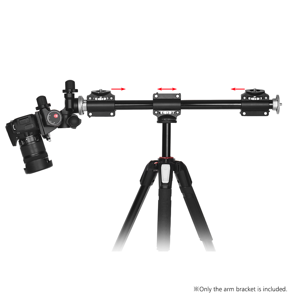 Adjustable Aluminiun Alloy Tripod Boom Horizontal Camera Mount Extension Arm with 3/8 Inch Screw for Ballhead Cameras(China)