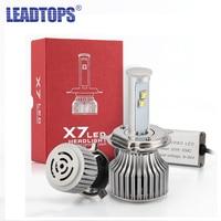 LEADTOPS H4 H13 H7 H11 9005 9006 LED Car Headlight Bulbs 8000LM CREE Chips CSP LED
