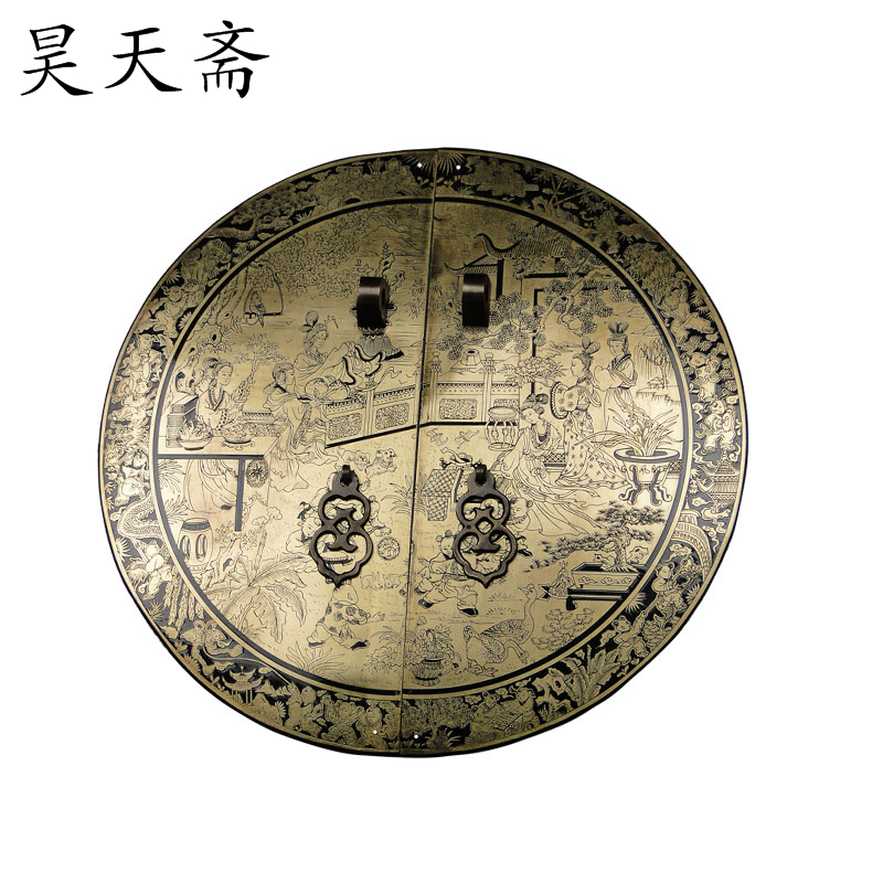 [Haotian vegetarian] Chinese antique copper fittings copper door handle money HTB-140 butterfly maid FIG paragraph consuming sustainability critical social analyses of ecological change