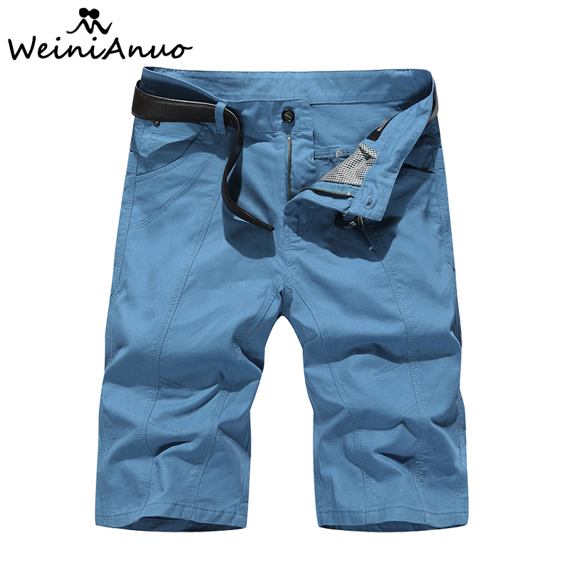 WEINIANUO Cotton Cargo Military Shorts Men 2018 New Casual Mens Shorts Male Loose Work Short Military Men Short Pants Male 349