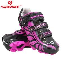 цена Sidebike Cycling Shoes Women Mtb Shoes Breathable Road Bicycle Shoes Non-slip Mountain Bike Shoes Buty Rowerowe онлайн в 2017 году