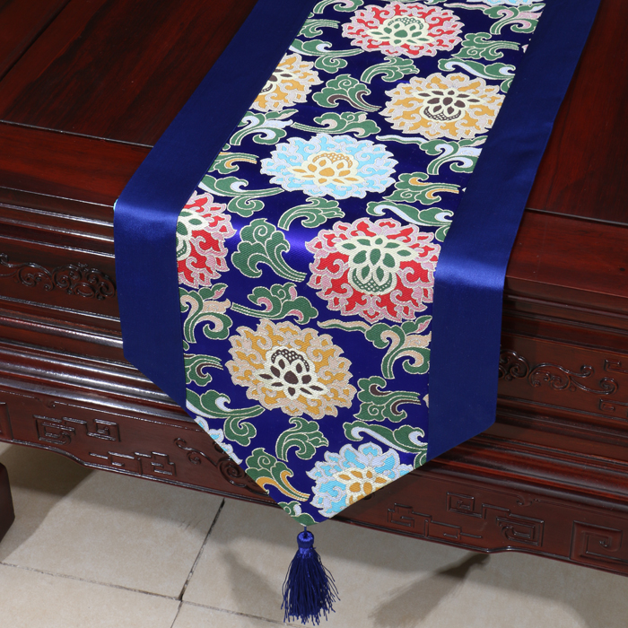 Natural Mulberry Silk Christmas Table Runner Flowers Luxury Chinese Table Mats Placemat High End Vintage Tablecloths for Parties|table runner|table runner patternsluxury table runner - title=