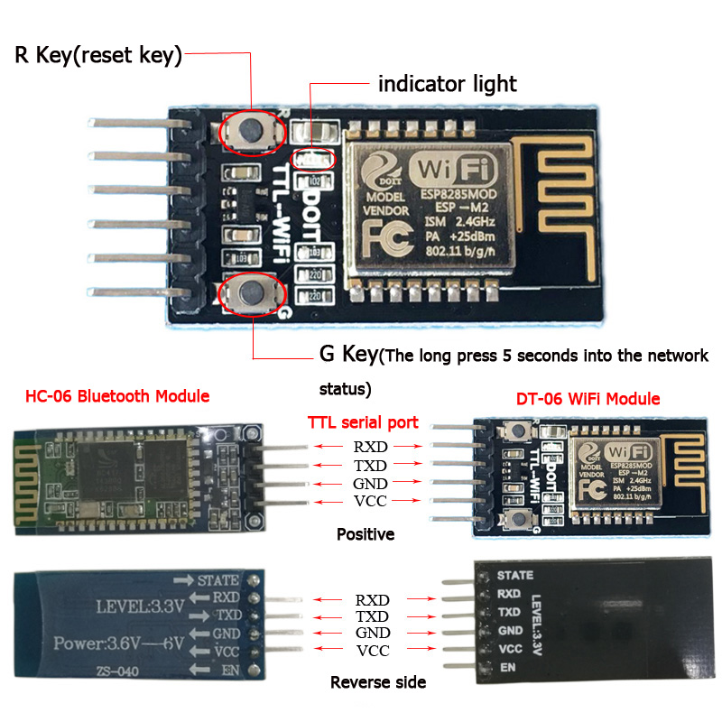 DOIT Easy Use DT-06 Wireless WiFi Serial Port Transparent Transmission Module Similar Bluetooth HC-06  TTL To WiFi Diy Rc Toy