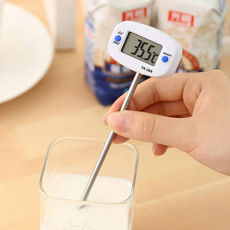 Rotatable Digital Food Thermometer BBQ Tools Meat Chocolate Oven Milk Water Oil Cooking Kitchen Thermometer Electronic Probe