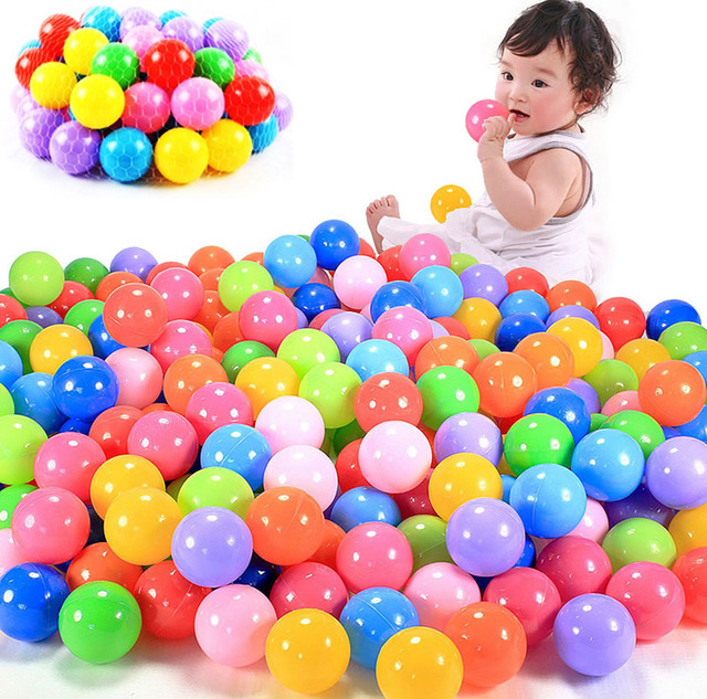 100pcs 7cm 8cm Colorful Ball Soft Plastic Ocean Ball Funny Baby Kid Swim Pit Toy Water Pool Ocean Wave Ball Outdoor Sports Toy 6pcs water spray swim dolphin babies toy