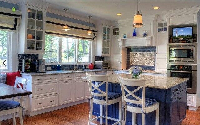 US $3500.0 |2017 colore bianco in legno massello mobili da cucina su misura  made prezzo a buon mercato tradizionale cucina mobili S1606110 in 2017 ...