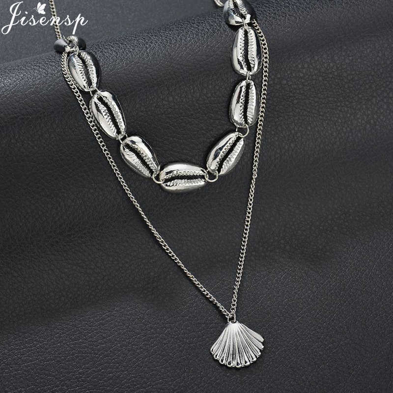 Jisensp 2019 New Arrival Shell Necklace Simple Bohemian Seashell Necklaces & Pendants Jewelry for Women Girls Birthday Gift