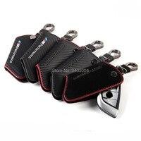 Car Key Holder Genuine Leather Case Key Wallet Bag M Performance For BMW M Performance M3
