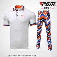 2018 PGM Golf Pants men's short sleeved T shirt Long pants Summer Breathable Quick drying Sport Apparel for men Size XXS XXXL