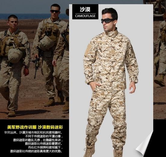 US Army Navy Desert Digital Uniform Paintball Suit Set Hunting Combat Camouflage Uniform Tactical Military Army Suit us navy uss carl vinson cvn 70 supercarrier 5 inch patch d19