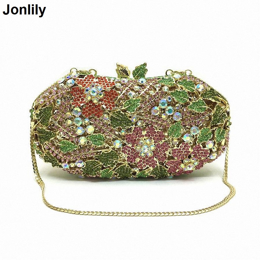 Women Evening Party Wedding Bag Bright High-end Diamond Female Day Clutches Ladies Small Chains Hasp Handbags LI-1574 high quality women luxury crystal evening bags day clutches ladies handbags sisters party purse multi color diamond small
