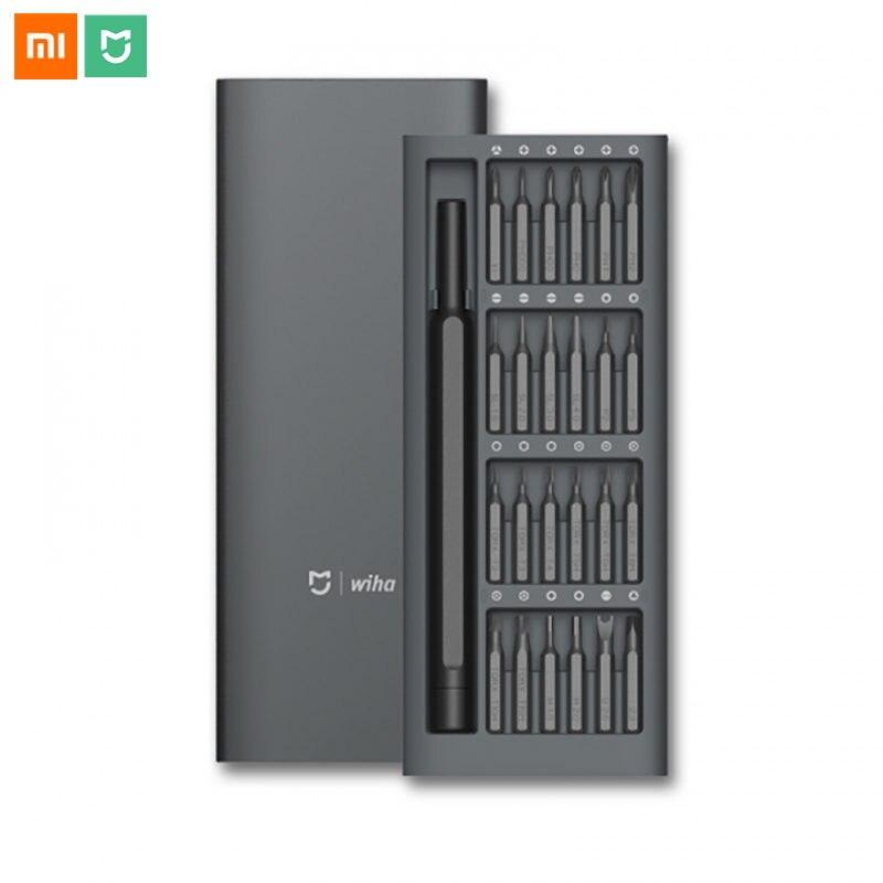 Original Xiaomi Mijia Wiha 24 in 1 Screwdriver Kit Daily Use Magnetic Bits Repair Tools Alluminum Box Mijia Screw Driver Set цены
