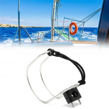 Horseshoe Bracket Life Buoy Top Stainless Steel Boat Swimming Ring Holder With Plastic Mount For Rowing Boat Accessories Marine