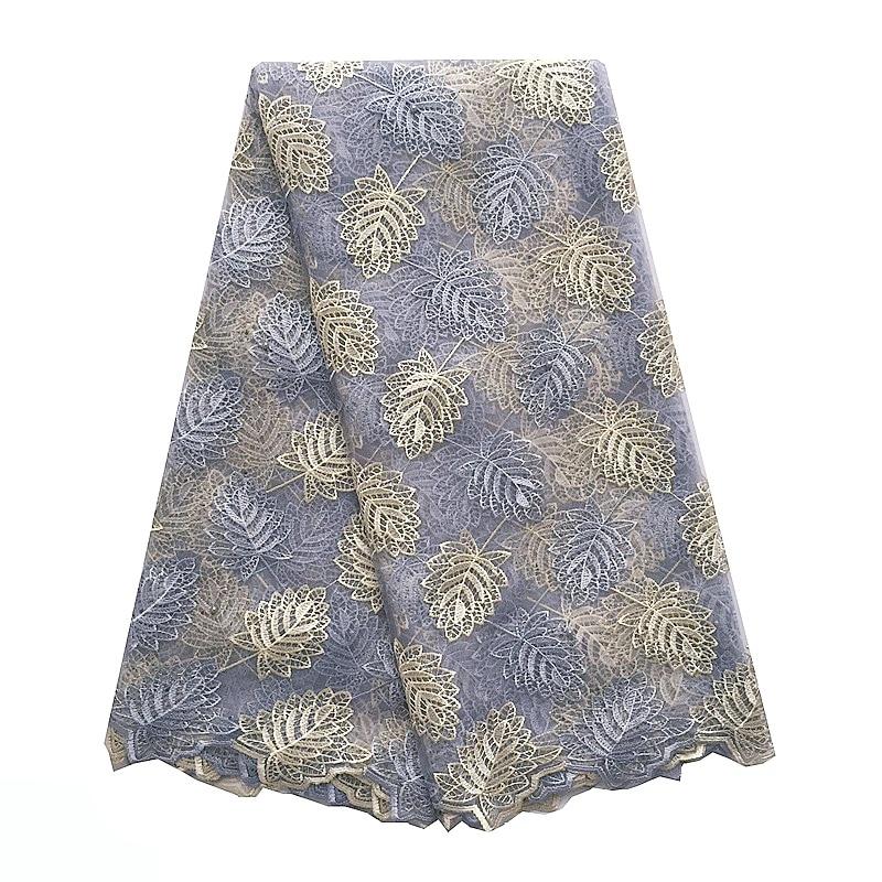 Royal Blue African Lace Fabric Nya Mesh Net Swiss Lace Material - Konst, hantverk och sömnad - Foto 4