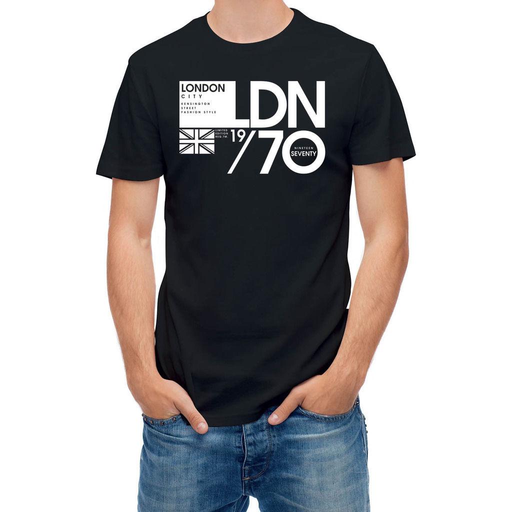 Black flag t shirt uk - 2017 Men S London City Kensington Street Uk Flag 24756 Design Men S 100 Cotton T Shirt