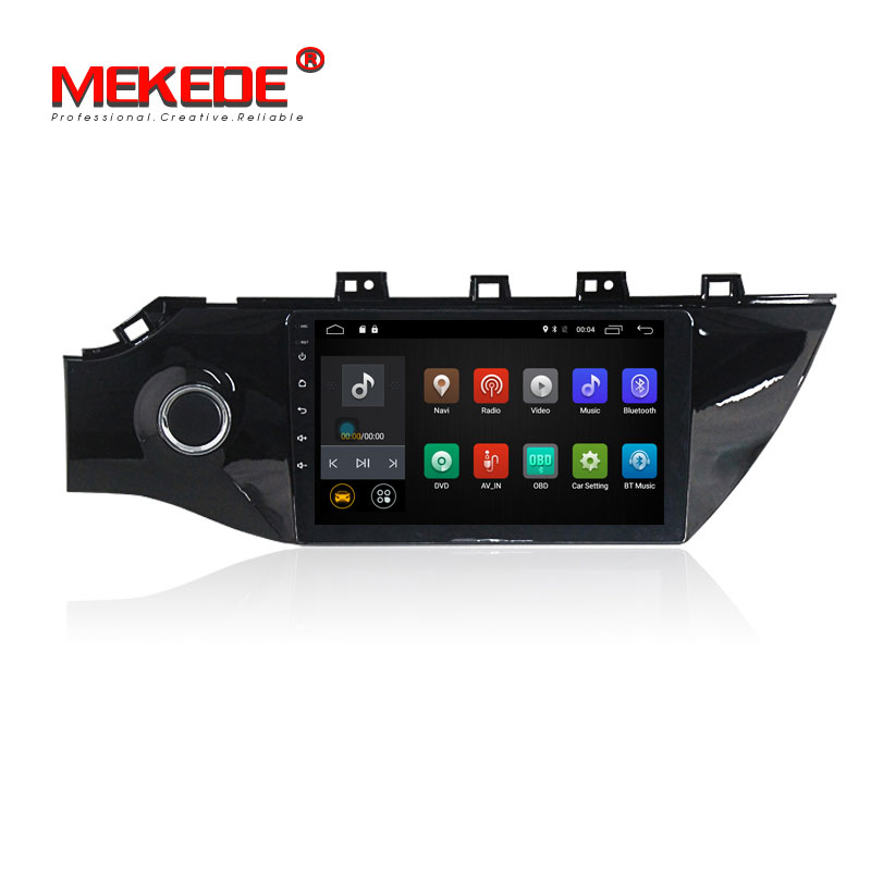 9inch 1024*600 screen Android 7.1 Quad Core 1din Car dvd radio stereo For kia K2 2017 Rio with wifi 2G RAM 4G SWC BT cassette