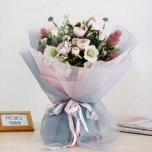 Korean Flower Wrapping Roll Gauze Florist Bouquet Packaging Mesh Materials Floral Art Packing Supplies 50 Cm*10 Yards