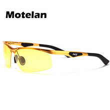 Men Polarized Light Night Vision Glasses Mirror for Driving Aluminum magnesium Alloy frame night use anti-glare sunglasses