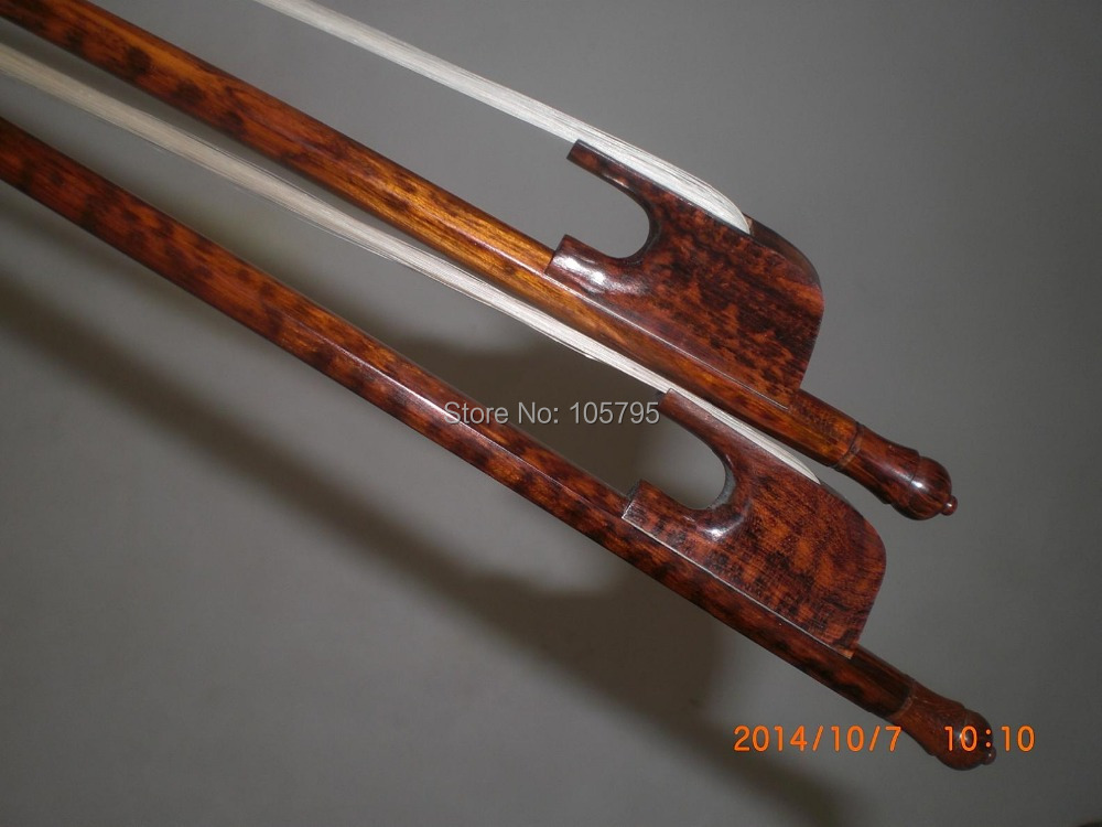 2 PC Nice Quality Strong Balanced Baroque CELLO Bow 4/4 Snake wood bow 1 pc high quality double bass bow 3 4 baroque bass bow snake wood