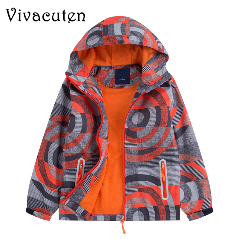 купить New Autumn Kids Boy Outerwear Sport Waterproof Windproof Hooded Jackets For Children Boys Jackets Cool Coats Spring Winter Tops
