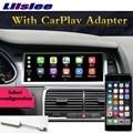 Per Audi Q7 4L V12 2007 ~ 2015 NAVI LiisLee Car Multimedia CarPlay Adattatore GPS WIFI Radio Audio Frame di Navigazione MAPPA Grande Schermo