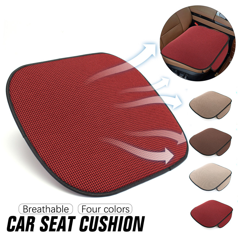 49*48cm Car Seat Covers PU Leather Breathable Seat Cushion 4 Seasons Universal Healthy Auto Front Seat Cover Protector Mat Pad