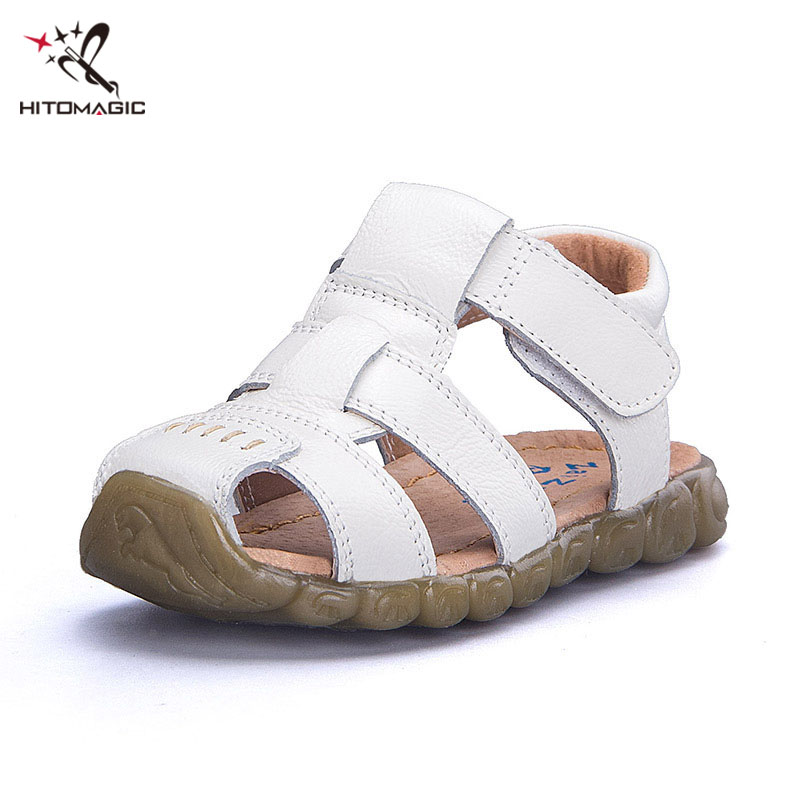 HITOMAGIC Sandals For The Boy Beach Shoes Genuine Leather Childrens Shoes For Boys Children Kids Footwear Breathable Summer