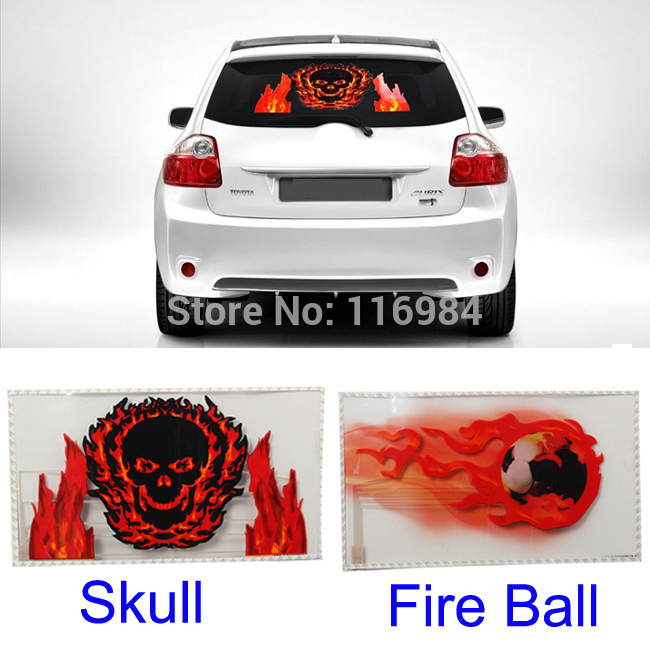 50x30cm Car Music Rhythm Skull & Fire Ball LED Flash Light Lamp Sound Activated Equalizer car light 1pcs 2pcs 45x11cm car music rhythm led flash light lamp sound activated equalizer car light panel lamp 1219