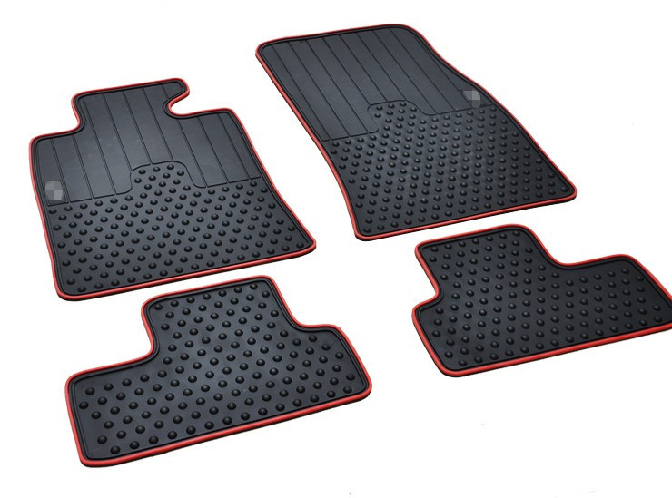 ФОТО special rubber mat waterproof non slip wear resistant green latex car floor carpets for MINICOOPER clubman countryman