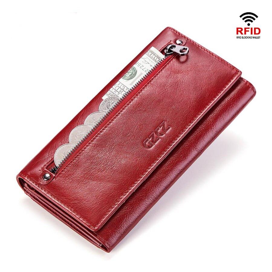 Portefeuille en cuir véritable femmes 5.5 pouces coques de téléphone couverture pour iPhone porte-monnaie Portomonee Kashelek femme longue dame Cuzdan Rfid