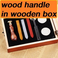 New Customize Stamp In Wooden Box Retro Style Sealing Wax Stamp Set Deluxe Gift Set 26