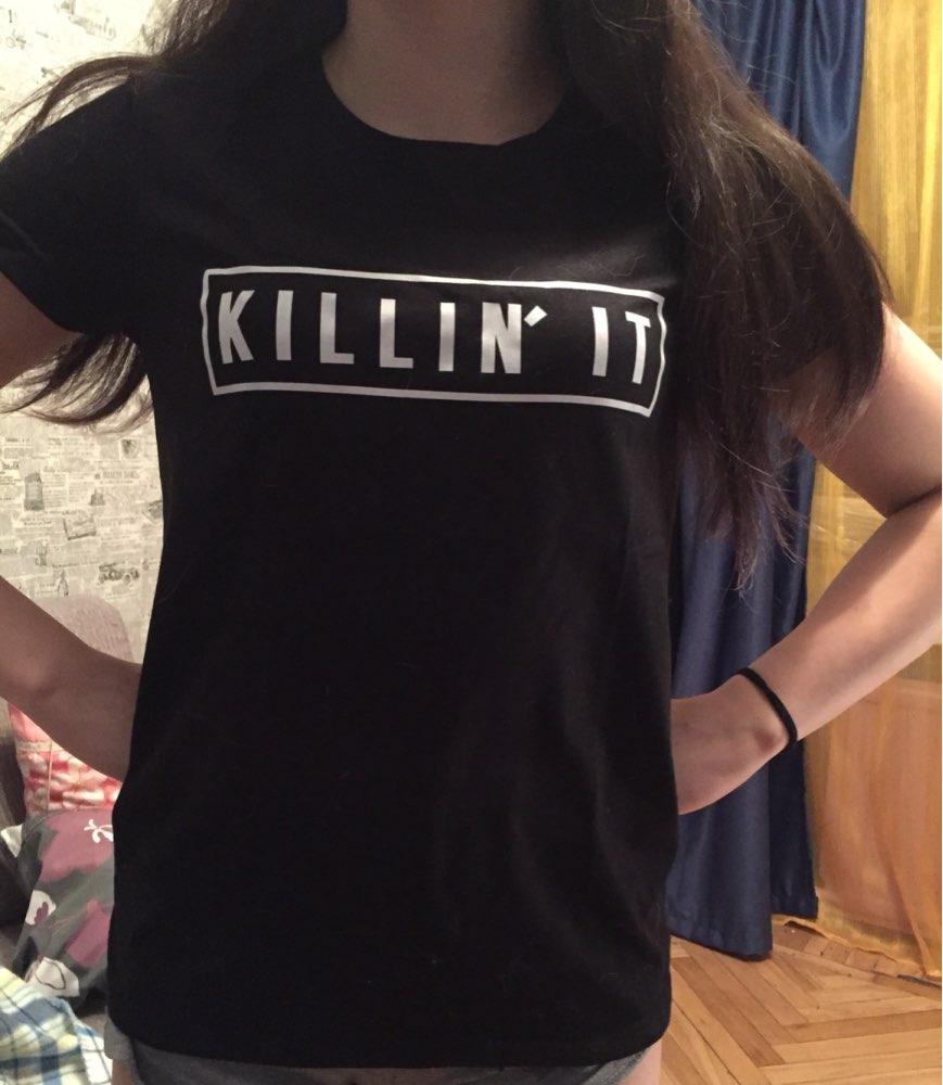 Black t shirt outfit tumblr - Killin It Women Fashion Black Tshirt Tops Tee Feminism Shirts Unisex Tumblr Clothes Cotton T Shirt Female Streetwear T Shirt
