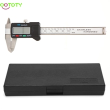 On sale 100mm LCD Electronic Digital Gauge Stainless Steel Vernier Caliper Micrometer  828 Promotion