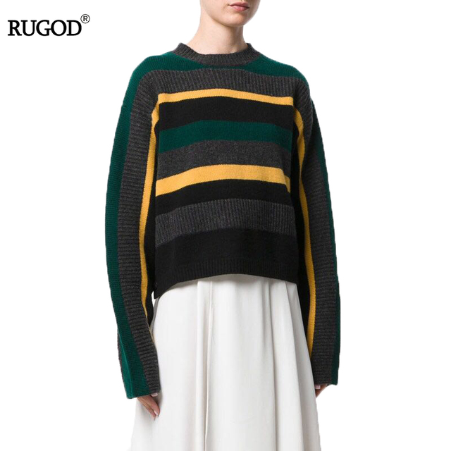 Aliexpress.com : Buy RUGOD 2017 Korean Winter Long Sleeve Striped ...