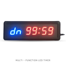 купить free shipping 1.5 GYM Crossfit Timer LED Interval Timer Training Time And Rest Time Alternate CountdownCount up As A Stopwatc дешево