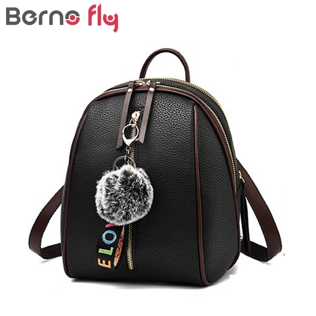 fad5742d0b37 Berno fly Hairball мини-рюкзак Для женщин основа рюкзаки девушки небольшой сумки  женские сумки на
