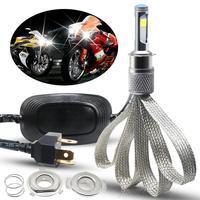 H4 LED Motorcycle Headlight Bulb Motorcycle Light 28W COB Chip LED Bulbs For Moto Light Universal Front Headlamp AC/ DC 9 18V