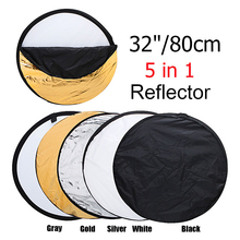 32″ 80cm 5 in 1 New Portable Collapsible Light Round Photography/Photo Reflector for Studio
