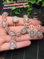 lovers gift birthday present 925 sterling silver fine jewelry sets natural 8*10mm icy jade jadeite jewelry sets for women