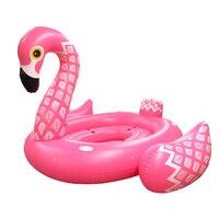 3 м бассейн огромный надувной Unorn для 4 человек надувной для бассейна Фламинго воздушный матрас остров отдых воды забавные игрушки