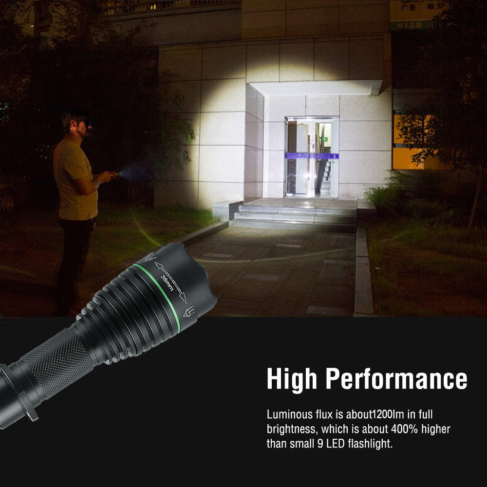 Uniquefire Uf-1508 Xml T6 Led Flashlight Camping Torch Tactical Waterproof 5 Modes 1200lumens Lamp Torche For Hiking,caving Led Lighting
